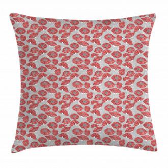 Poppy Petals Polka Dots Pillow Cover