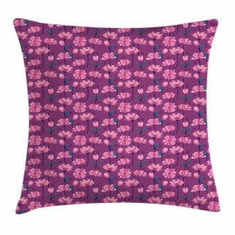 Abstract Poppy Petals Pillow Cover