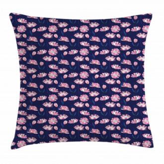 Garden Art Pink Poppies Pillow Cover
