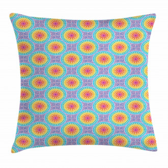 Rainbow Color Circles Pillow Cover