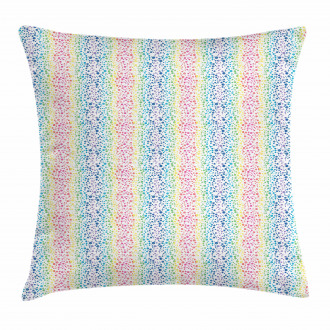 Color Transition Dots Pillow Cover