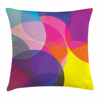 Colorful Circles Pillow Cover