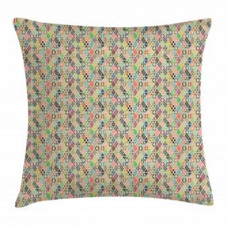 Patchwork Art Rhombus Pillow Cover