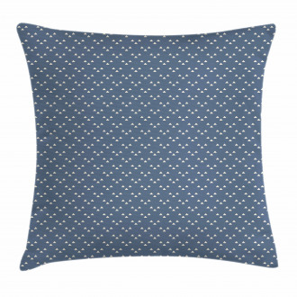 Doodle Triangle Print Pillow Cover