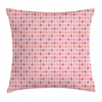 Pink Diamond Shape Pillow Cover