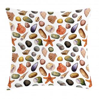 Watercolor Sea Elements Pillow Cover
