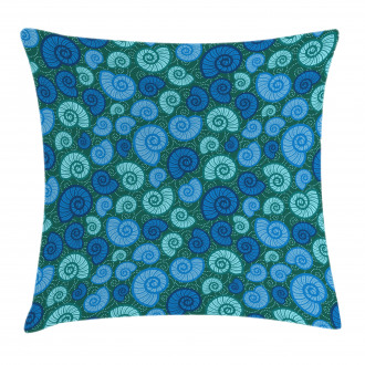 Periwinkle and Vortex Pillow Cover