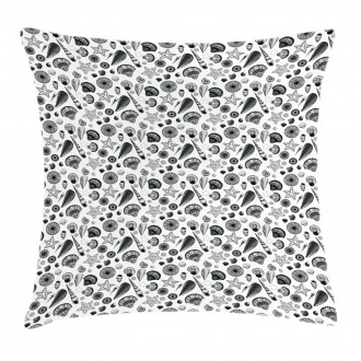 Black and White Clams Pillow Cover