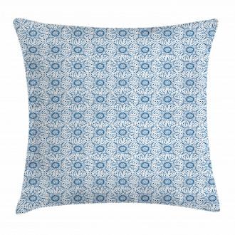 Dutch Floral Tile Pillow Cover