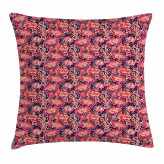 Asian Oriental Flowers Pillow Cover
