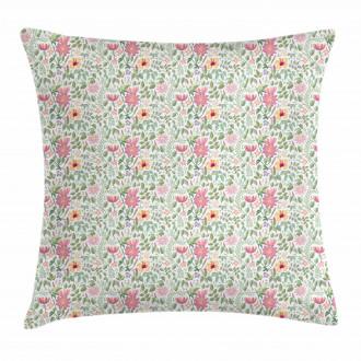 Wildflower Botanic Theme Pillow Cover