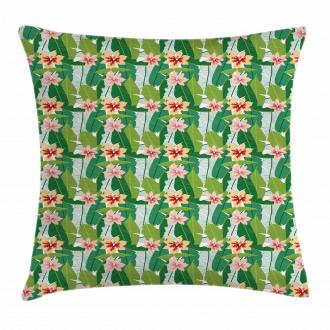 Exotic Hawaiian Botanic Pillow Cover