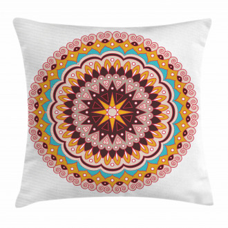 Ethnic Floral Motif Pillow Cover