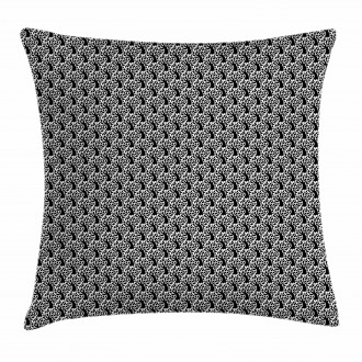 Tree and Leaf Silhouette Pillow Cover