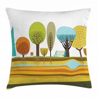 Park Elements of the City Pillow Cover