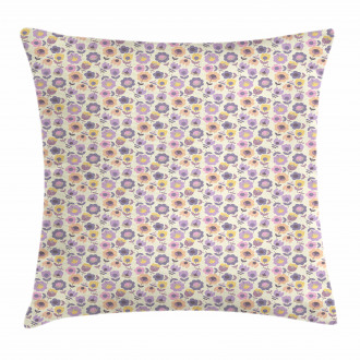 Graphic Tulip and Daisy Pillow Cover