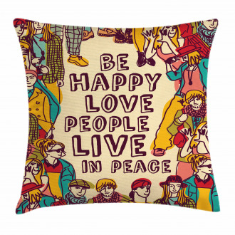 Love Peace Motivational Pillow Cover