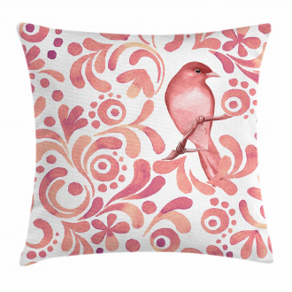 Salmon Colored Pattern Pillow Cover