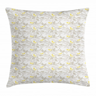 Abstract Lobed Leaves Pillow Cover