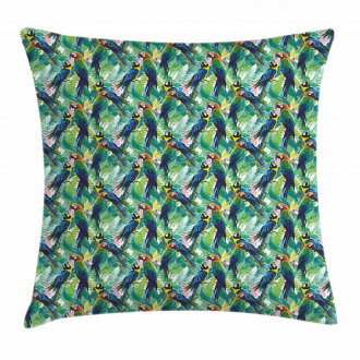 Scarlet Macaw Parrots Pillow Cover