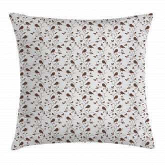 Tweeting Little Sparrows Pillow Cover