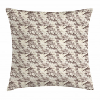 Ruby-Throated Hummingbird Pillow Cover