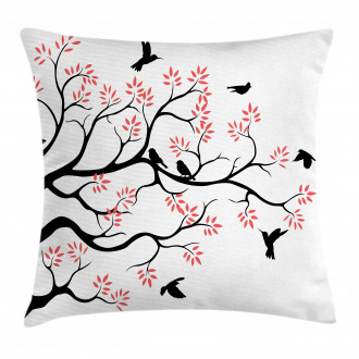 Mockingbird on Plane Tree Pillow Cover