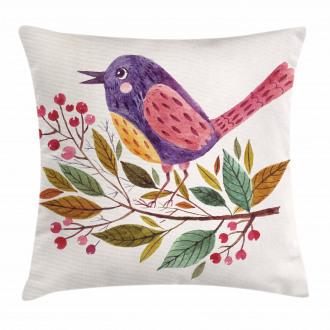 Scarlet Firethorn Flower Pillow Cover