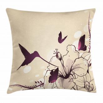 Flappy Tiny Hummingbirds Pillow Cover