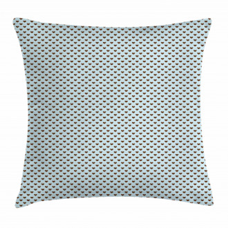 Grungy Hearts Pillow Cover