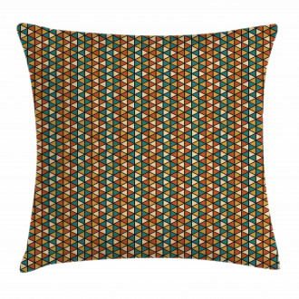 Retro Grid Triangles Pillow Cover