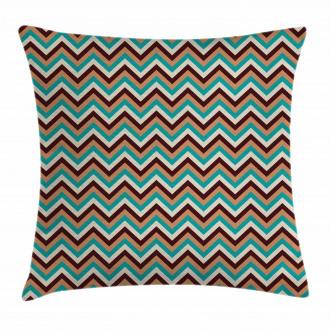 Retro Color Zigzag Line Pillow Cover
