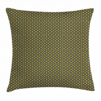 Geometric Tile 70s Style Pillow Cover