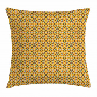 Geometric Shapes 60s Pillow Cover