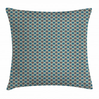 Round Shapes Squares Pillow Cover