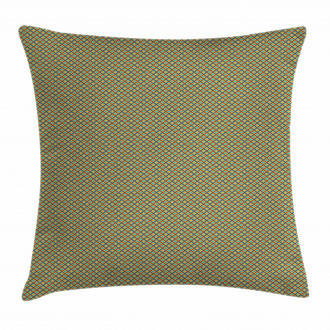 Simple Rhombus Cells Tile Pillow Cover