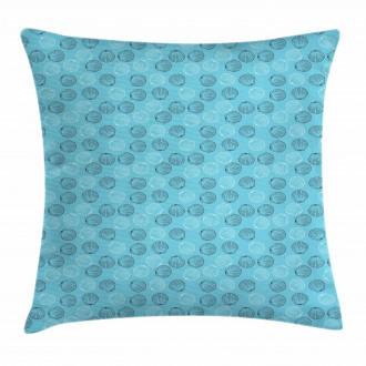 Maritime Seashells Pillow Cover