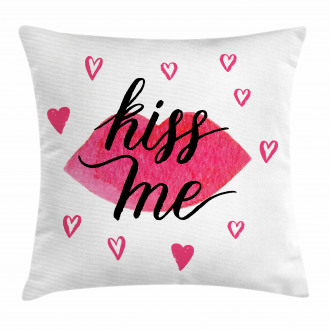 Grunge Hearts Lipstick Pillow Cover