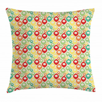 Colorful Shapes Print Pillow Cover