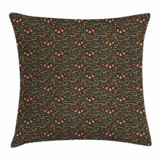 Mistletoe Pine Branch Pillow Cover