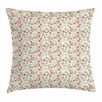 Doodle Hanging Balls Pillow Cover