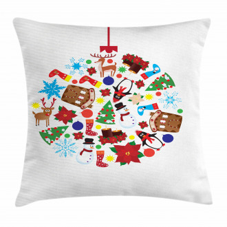 Traditional Noel Joy Pillow Cover