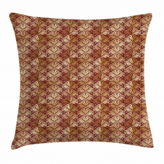 Stylized Curvy Leaves Pillow Cover