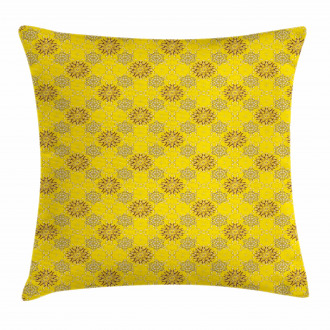 Swirly Flowers Pillow Cover