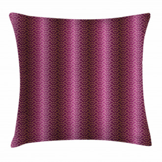 Zigzag and Hearts Pillow Cover