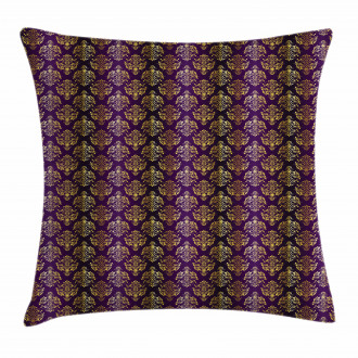Oriental Leaf Dot Pillow Cover