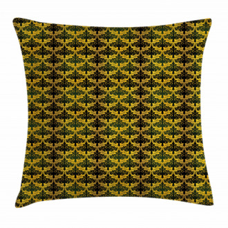 Wave Shape Leaves Pillow Cover
