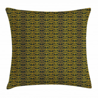 Wavy Floral Leaf Pillow Cover
