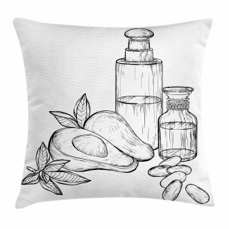 Natural Tropical Fruit Pillow Cover