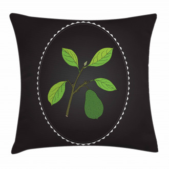 Alligator Pear Tree Pillow Cover